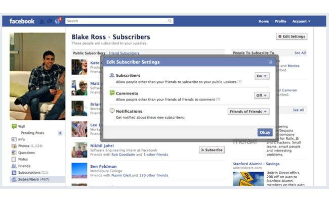 Facebook Announces New Subscribe Button