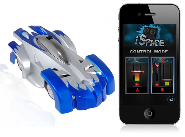 iPhone Controlled Wall Climbing Car