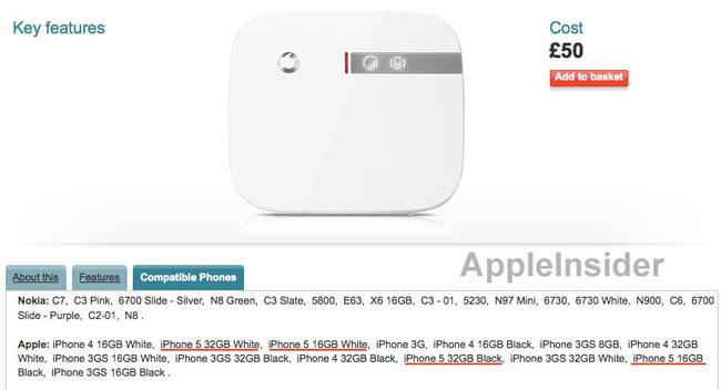 iPhone 5 Vodafone