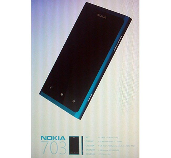 Nokia 703 Windows Phone 7 Smartphone