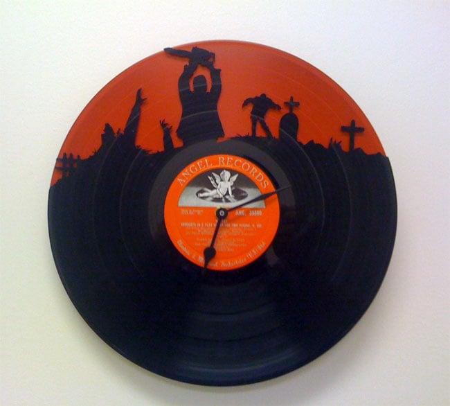 Recycled Vinyl Record Clocks Look Cool