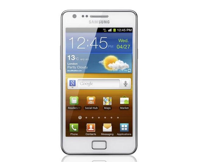 White Samsung Galaxy S II