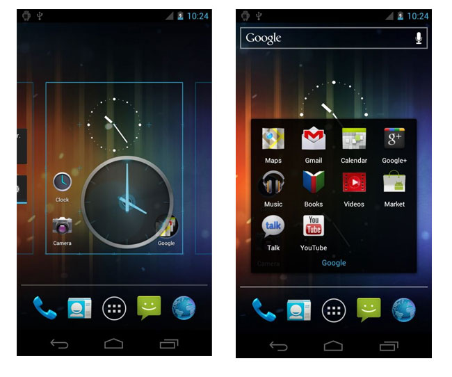 Android Ice Cream Sandwich 4.0 Sceenshots