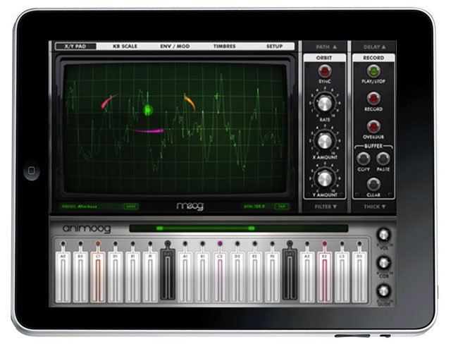 Animoog iPad Synthesiser App