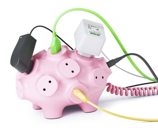Art Lebedev Svintus Power Strip Pig