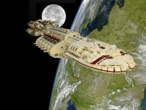 Behold This Lego Starship From Battlestar Galactica