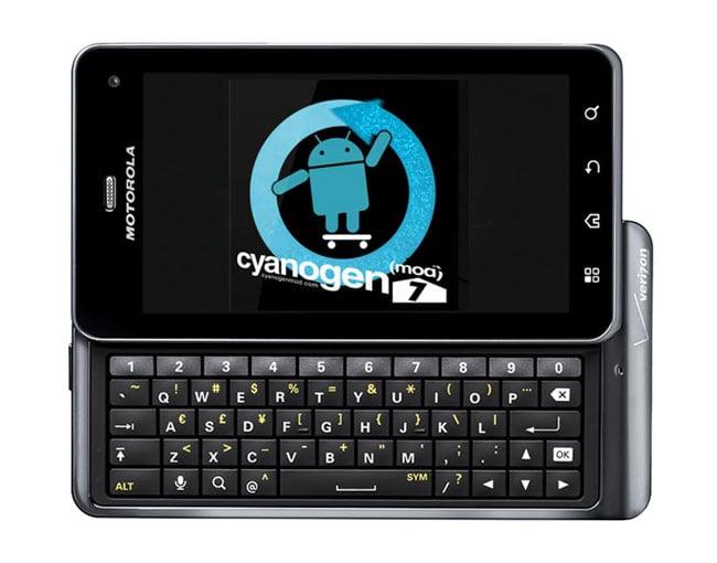 CyanogenMod 7 Droid3