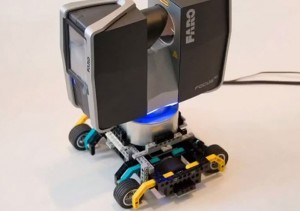 Faro Focus 3D Scanner Equipped With Lego Transporter Is Perfect For Capturing Large 3D Scans (video)