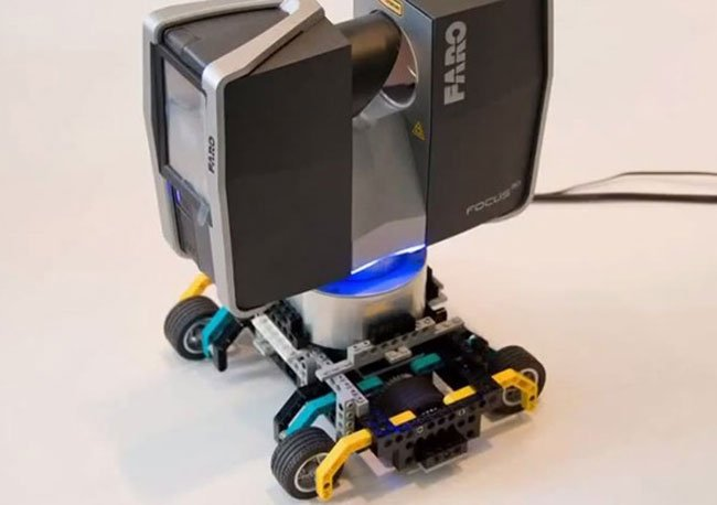 faro focus 3d scanner equipped with lego transporter is. Black Bedroom Furniture Sets. Home Design Ideas