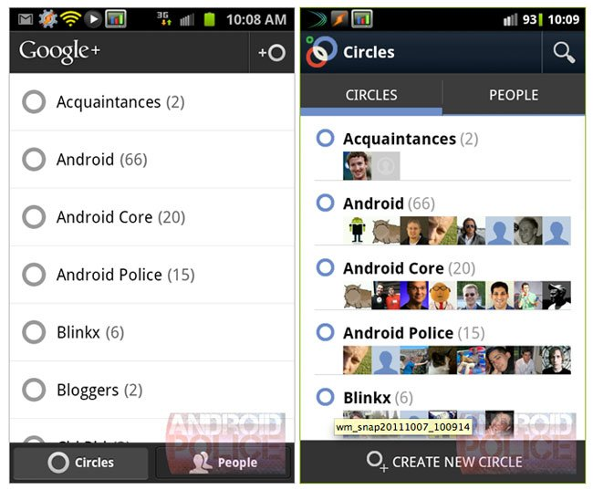 Google Plus 2 Android