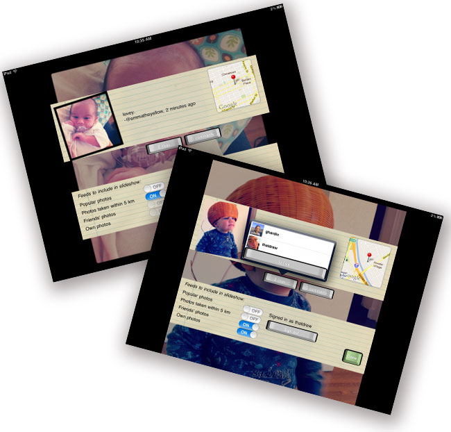 Instaframe iPad App
