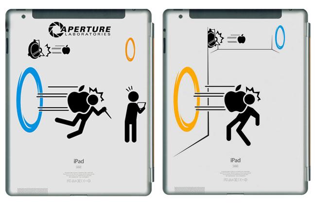Portal iPad decal