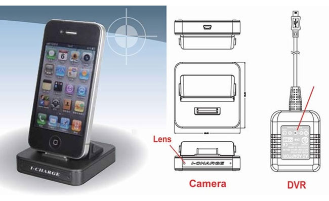 Spy Camera iPhone Charger