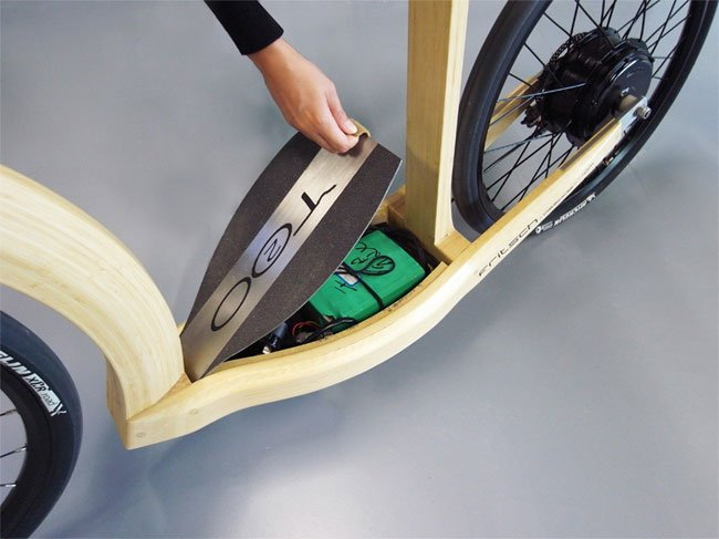 T20 Electric Bamboo Scooter