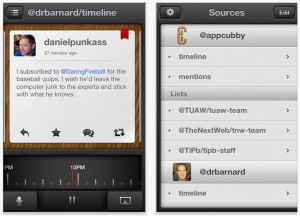 Tweet Speaker App Reads Your Twitter Feed To You