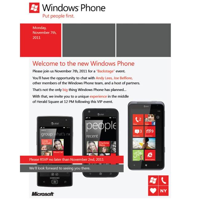 Windows Phone Event
