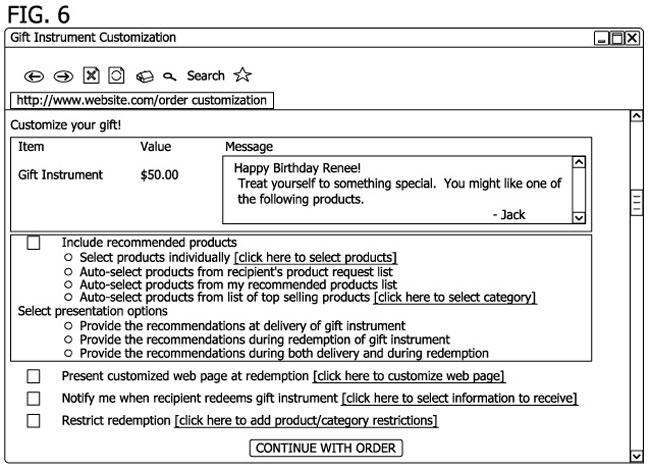 amazon gift Card Patent