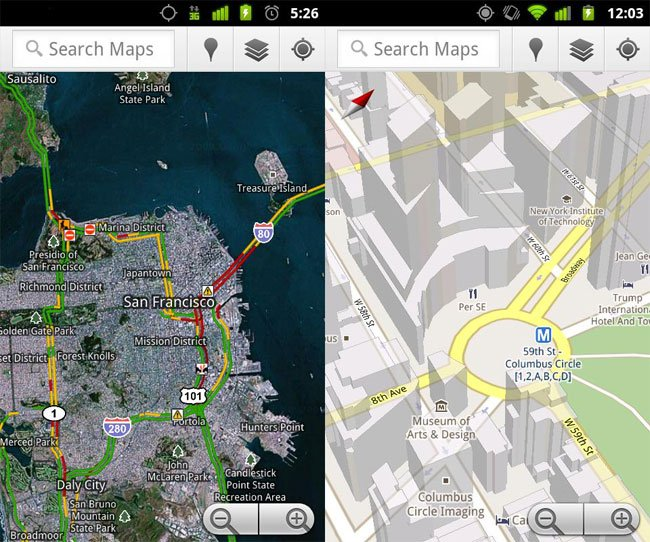 Android Google Maps Update Brings NFC Support