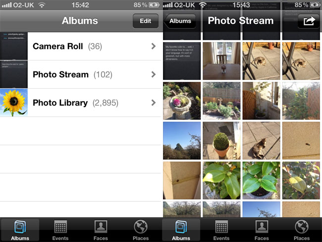 what is my photostream on iphone 5 iphone 4s review 20555