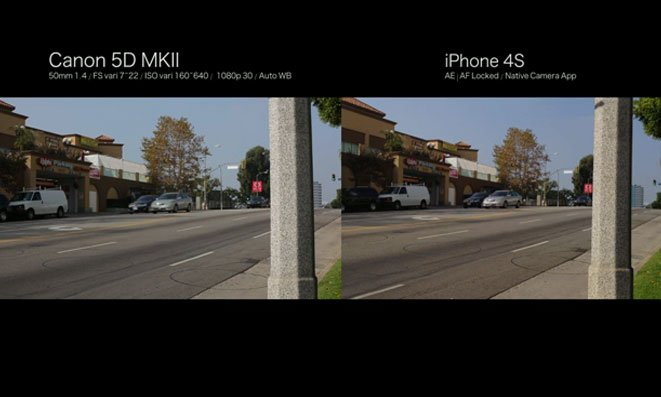 iPhone 4S vs Canon 5D MKII
