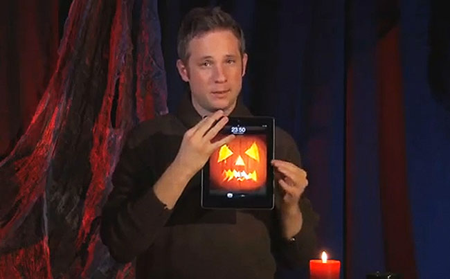 Magician Uses iPad For Halloween Show (Video)
