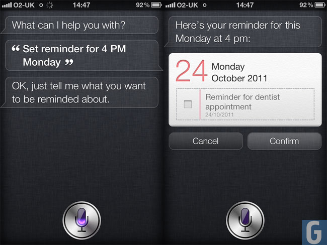 iPhone 4S Reminder