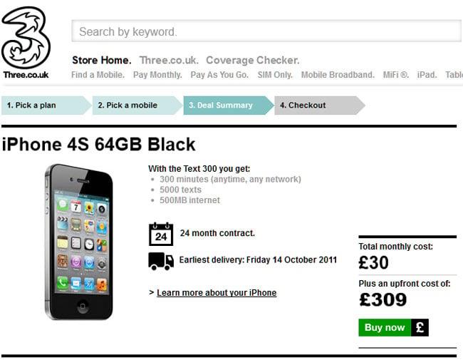 iPhone 4S Three