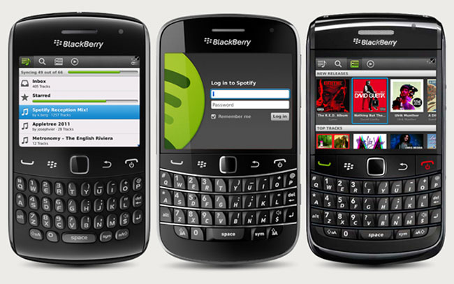 Spotify Releases Spotify For BlackBerry Preview App