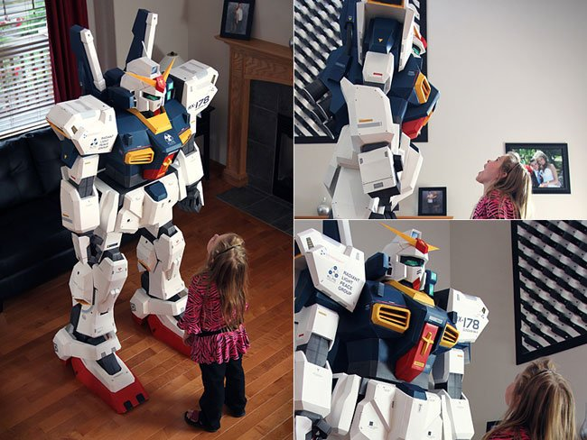 Awesome 7 Foot Papercraft Gundam
