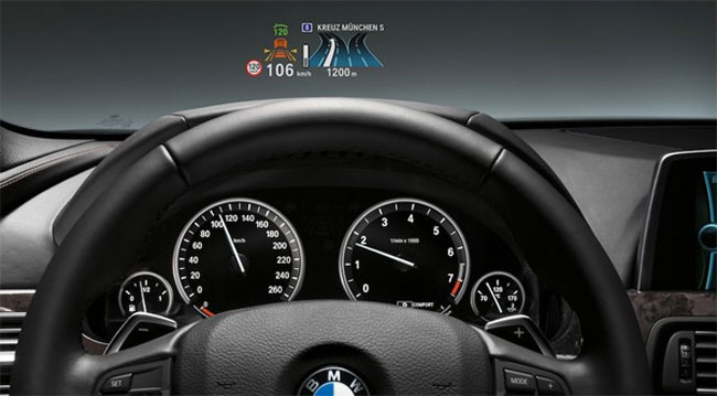 BMW 3 Series Heads Up Display