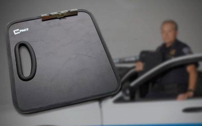 Ballistic Clipboard Stops Bullets