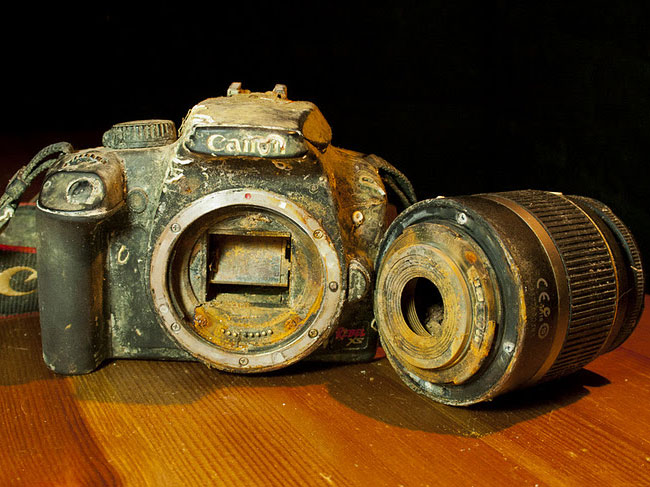 After A Year In The Pacific Ocean A Canon Eos Camera