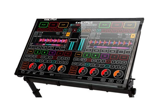 emulator dj transparent touchscreen mixing desk. Black Bedroom Furniture Sets. Home Design Ideas