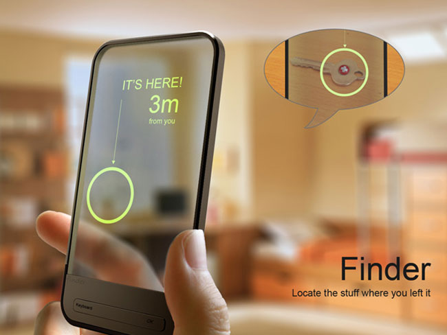 finder concept allows you to find those lost belongings