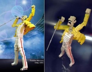 Awesome Beyond Words: Lego Freddie Mercury Statue
