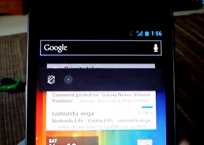 Galaxy Nexus Volume Bug