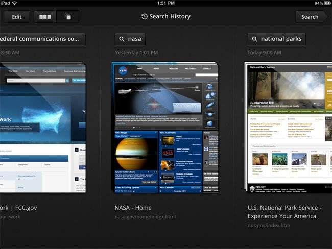 Google Search iPad App