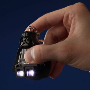 Lego Darth Vader Key Chain Has A Led Light In its Foot