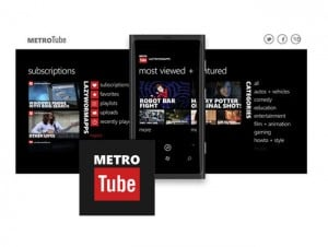 MetroTube App, Enhances YouTube On Windows Phones