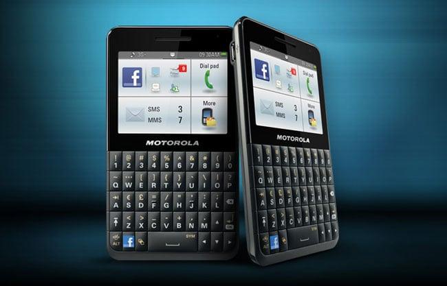 Motorola Motokey Social Facebook Phone Announced