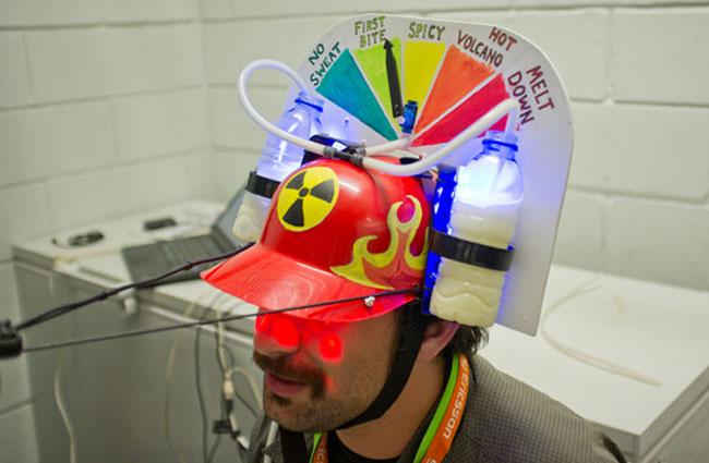 Nuclear Taco Sensor Helmet Gameshow