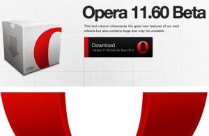 Opera 11.60 Beta Released