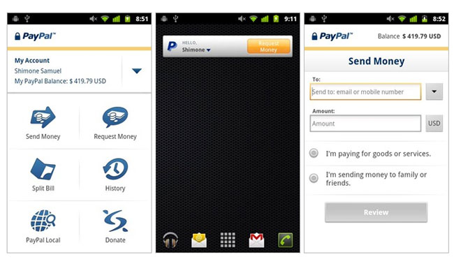 PayPal NFC. The new update ...