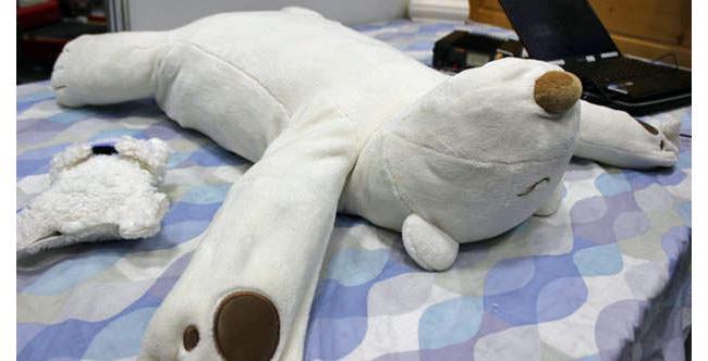 Robot Polar Bear Pillow Soothes Obnoxious Snorers (Video)