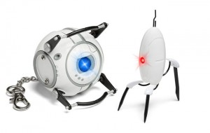 Portal Wheatley And Turret Flashlight Keychains