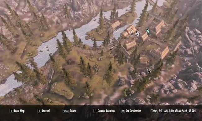 Skyrim Ubermap Mod Adds Google Street View Functions To