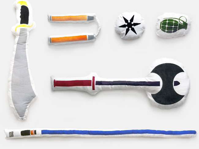 Weapon Shaped Pillows Adds A New Twist To Pillow Fights