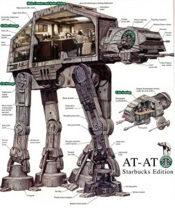 At-At Starbucks Roves the Frozen Wastes of Hoth