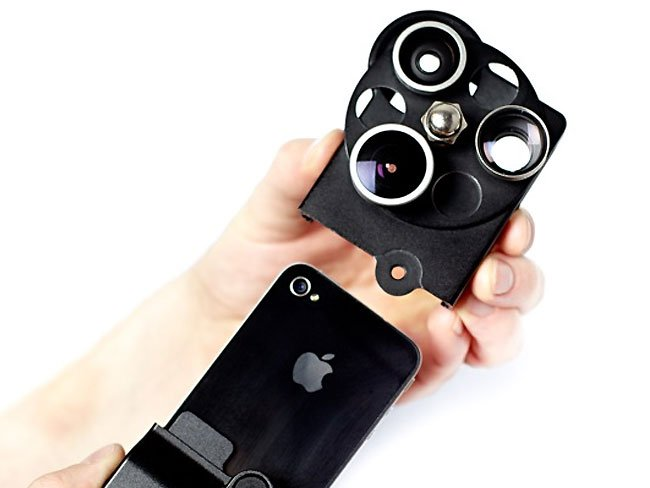 iphone lens dial case adds a wide angle, telepo and fisheye lens ...