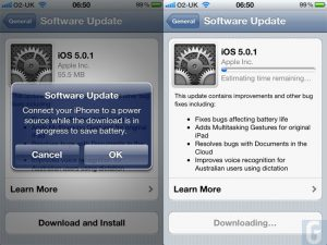 Apple Releases iOS 5.0.1 Battery Fix Update